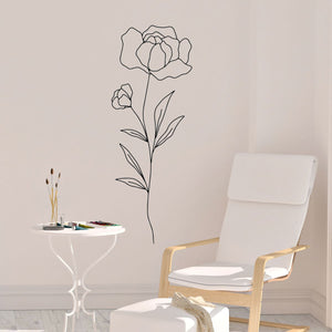 flowers on stem wall decals - Snug as a Bug