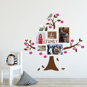 family tree wall decals - fruit tree and bird
