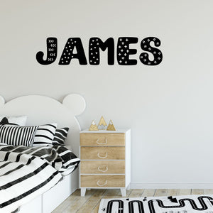 custom wall lettering - fun pattern name decals