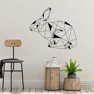 geometric bunny wall decals