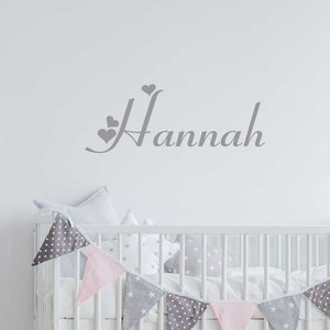 custom wall lettering - heart name decals