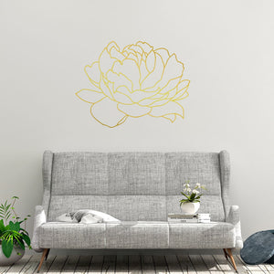large peony outline wall decals - Snug as a Bug