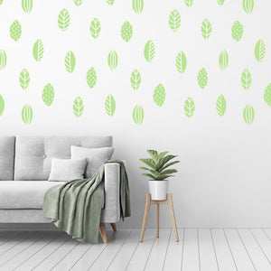 leaf wall decals - Snug as a Bug
