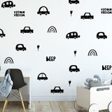 little cars wall decals