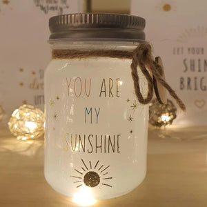 mini message sparkle jar - you are my sunshine - Snug as a Bug