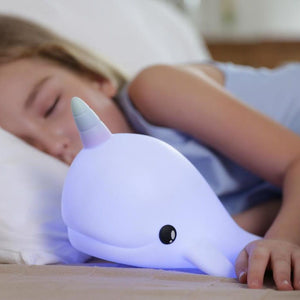 narwhal night light - USB rechargeable