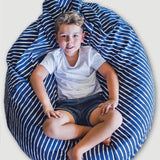 navy stripe bean bag cover - large - Snug as a Bug