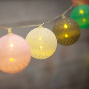 pastel cotton ball fairy lights - Snug as a Bug