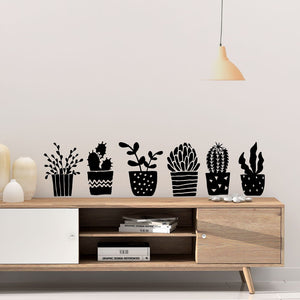 potted plant wall decals - Snug as a Bug