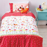 cubby house kids story book duvet cover