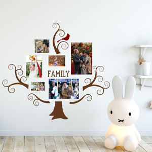 swirly family tree wall decals brown