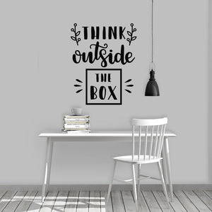 "wall quote ""think outside the box"""