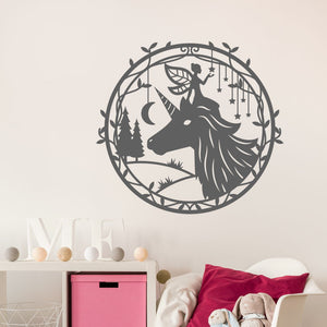 unicorn and fairy wall decals
