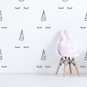 unicorn pattern wall decals