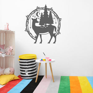 woodland deer wall decals