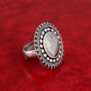 Tribal Ring in Oxidized 92.5 Sterling Silver