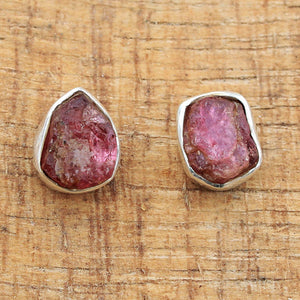 Handmade Pink Tourmaline Gemstone Earring in 925 Sterling Silver