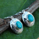 Handmade Turquoise Gemstone Earring in 925 Sterling Silver