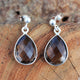 Handmade Smoky Quartz Gemstone Earring in 925 Sterling Silver