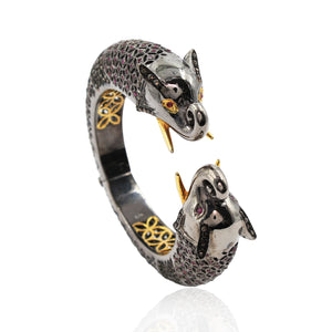 Elephant Shaped Diamond Bracelet