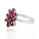 Garnet Gemstone Ring in 925 Sterling Silver