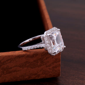 Swarovski Zircon Ring For Engagement In 925 Sterling Silver