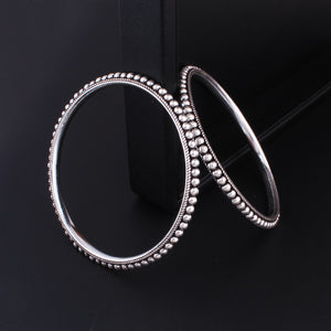 Oxidized 92.5 Sterling Silver Bangles