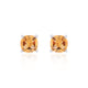 Citrine Gemstone Studs in 925 Sterling Silver