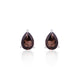 Smoky Quartz Gemstone Studs in 925 Sterling Silver
