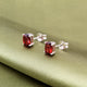 Garnet Gemstone Studs in 925 Sterling Silver