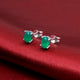 Green Topaz Gemstone Studs in 925 Sterling Silver