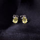 Lemon Topaz Gemstone Studs in 925 Sterling Silver