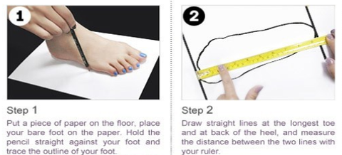 24e8b9cdec52 Below is an explanation on how to measure your feet.