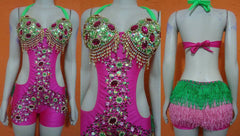 Eduarda Super Cutout Crystal Samba Shine Dress