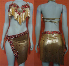 Renata Gold Mesh Set Princess Basic Samba Wear