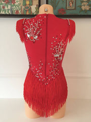 Salgueiro Red Bodysuit Covered Up Samba Costume