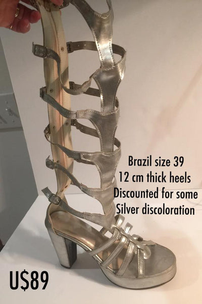 Fish Tail Gladiator Samba Sandals - 39