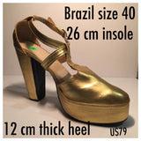 Professional Samba Dancer Closed Toes, Front Cross Straps - 40