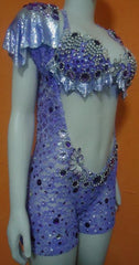 Lilac Laced Mesh Sparkling Passista Wear.