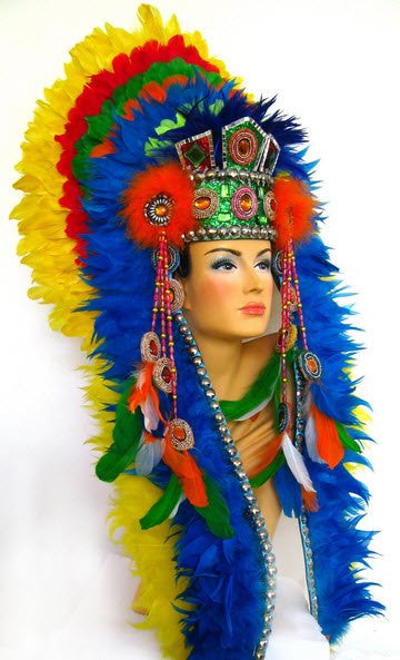 LUXURIOUS NATIVE INDIAN DIVA HEADDRESS