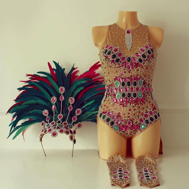 Mangueira Bodysuit Covered Up Samba Costume
