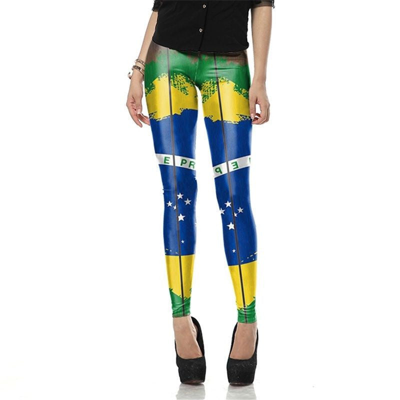 Brazil Flag Legging Hip