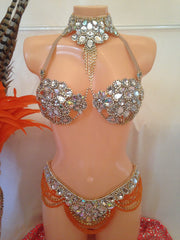 Super Gem Orange Crystal Samba Costume