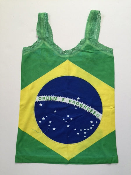 Brazil Flag & Beads Sleeveless