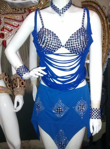 Slits and Rhinestones 3 Piece Passista Wear