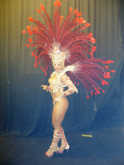 Red Samba Diva Swarovski Strass & Royal Pheasants