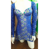 Long Sleeve Sparkle Samba Dress