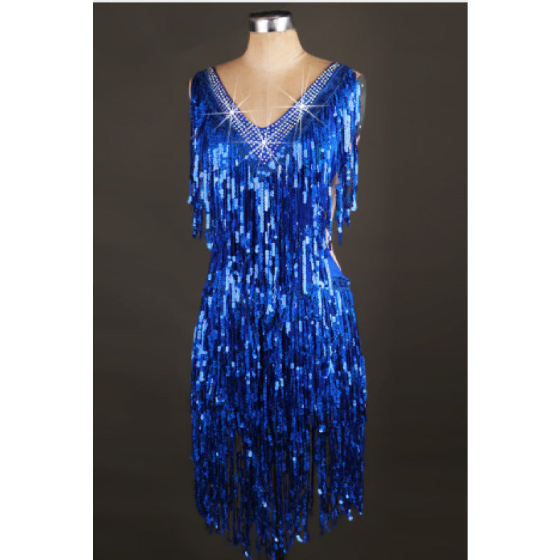 Supreme Sequinned Fringes Samba Dress - BrazilCarnivalShop