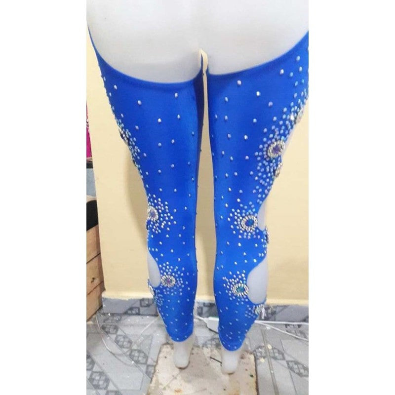 Azul Royal Top & Leg Sleeves - BrazilCarnivalShop