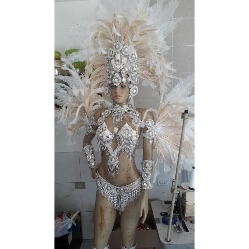 White Wonder Samba Complete 10 Piece Costume